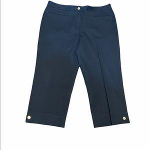 -ST JOHN SPORT Navy Cropped Pants Capri